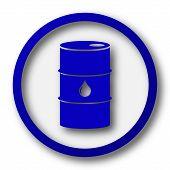 stock photo of crude-oil  - Oil barrel icon - JPG