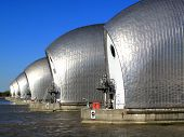 image of global-warming  - The Thames Barrier at Greenwich - JPG