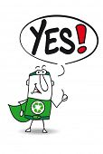 image of yes  - Yes super recycling man - JPG