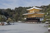 stock photo of shogun  - Zen temple during winter and snow time in japan - JPG