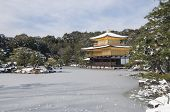 foto of shogun  - Zen temple during winter and snow time in japan - JPG