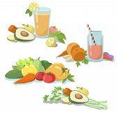image of vegetable food fruit  - Smoothie - JPG