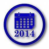 foto of calendar 2014  - 2014 calendar icon - JPG