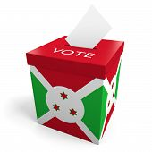 image of ballot-paper  - A ballot box bearing the Burundian flag - JPG