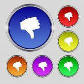 picture of dislike  - Dislike Thumb down icon sign - JPG
