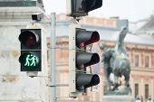picture of homogeneous  - Traffic light Vienna for more tolerance stoplight with same - JPG