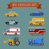 picture of ambulance car  - Set of cars - JPG