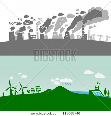 Pollution from classic power plants