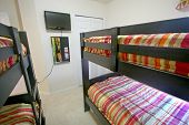 picture of bunk-bed  - A Bunk Bedroom Interior Shot of a Home - JPG