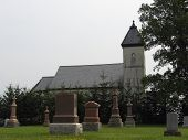 stock photo of mennonite  - old church  - JPG