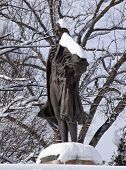 Alexander Hamilton Statue Front Of Treasury Department Pennsylvania Ave After The Snow Washington Dc