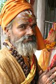 A Holy And Cheerful Sadhu