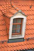 Tiled roof with dormer, Meißen