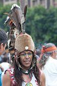 People executing amerindian rituals