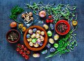Tasty Vegetables Background poster