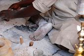 Worker In Alabaster Factory, Egypt