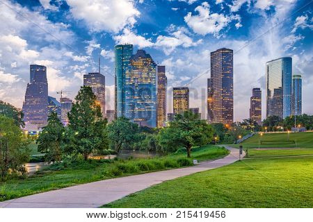 Houston Texas USA downtown city