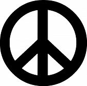 stock photo of peace-sign  - Scalable vectorial image representing a peace symbol - JPG