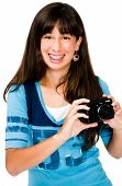 Mixedrace Teenager Photographing