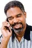Mature Man Talking On Mobile