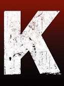 picture of letter k  - Fat Grunged Letters  - JPG