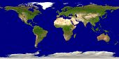 picture of planet earth  - Satellite view of the planet Earth  - JPG