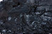 Textura detallada del carbón