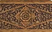 Pattern Of Rose Carved On Wood