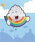 Rainbow eater in the sky