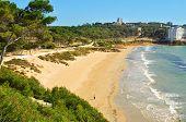 A view of Platja Llarga beach, in Salou, Spain