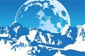 hermoso paisaje (montañas de la luna)