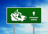 Canada Highway Sign