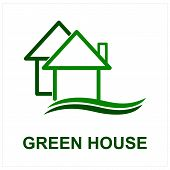 Green House Logo, House Logo, Green House Icon, Green House Icon Vector Isolated On White Background poster