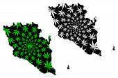 Pahang (states And Federal Territories Of Malaysia, Federation Of Malaysia) Map Is Designed Cannabis poster