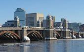 Boston Scenery With Bridge And River