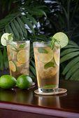 Lime And Mint Iced Tea