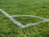 Painted Corner Of Sports Field Of A Soccer, Lacrosse, Field Hockey, Game poster