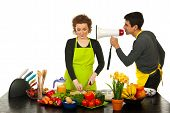 Husband Telling Wife To Cook Faster