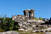 Detail Of Mayan Ruins At Tulum