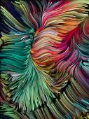 Swirling Color Background poster