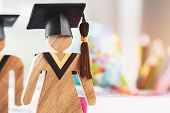 Education Knowledge Learning Study Abroad International Ideas. People Sign Wood With Graduation Cele poster