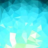 Abstract Low Poly Background Of Triangles In Blue Colors poster