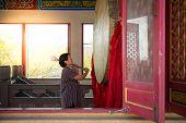 Thai Buddhism Pray For Benefaction Worship poster