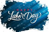 Usa Labor Day Greeting Card With Handwritten Holiday Greetings Happy Labor Day. United States Nation poster