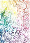 floral rainbow hand-drawn background