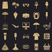 Shopping Tour Icons Set. Simple Set Of 25 Shopping Tour Icons For Web For Any Design poster