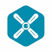 Propeller Icon. Simple Illustration Of Propeller Icon For Web poster