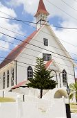 First Baptist Church  With Tropical Tree La Loma Town  San Andres Providencia And Catalina Island Co