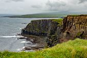 Landscape Of Rocky Cliffs Along The Coastal Walk Route From Doolin To The Cliffs Of Moher, Geosites  poster
