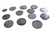 Old Medieval Coins Isolated poster
